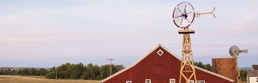 Red barn and weather vane