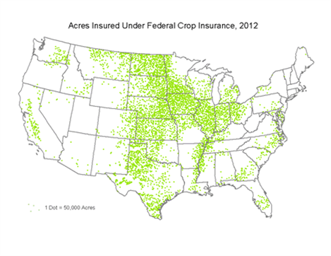 Acres insured in 2008