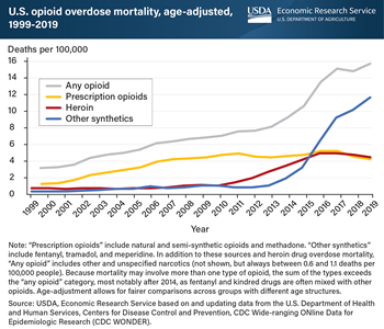 Fentanyl and other illicit opioids replaced prescription drugs as drivers of the opioid epidemic in 2011