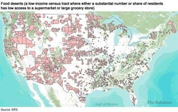 Where are food deserts in the U.S.?