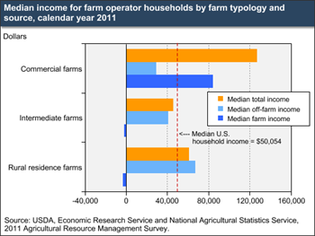 Farm household income is diverse in sources and levels
