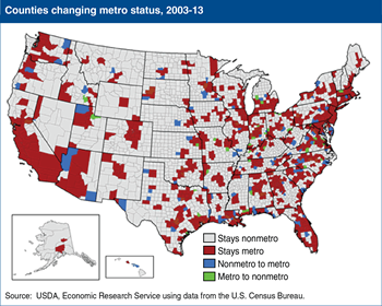 Classifying U.S. nonmetro and metro areas in a new decade