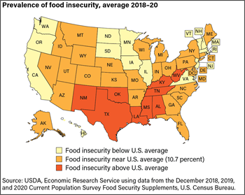 Prevalence of food insecurity is not uniform across the country