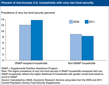 Editor's Pick 2013, #6:<br>Inflation-adjusted value of SNAP benefits declined; food insecurity increased from 2009-11