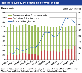 India's rising food subsidy leads to little change in food grain consumption