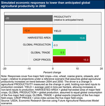 The agricultural sector can adapt to uncertainty in future productivity growth