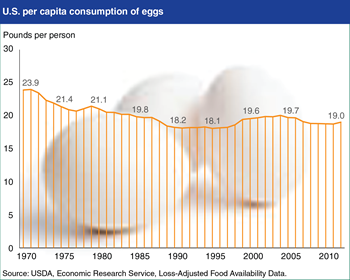 Americans consumed 19 pounds of eggs per person in 2012
