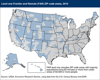Frontier and Remote (FAR) codes pinpoint Nation's most remote regions