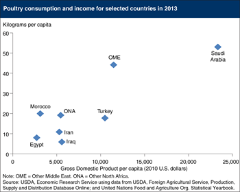 Poultry consumption grows with income in the Middle East and North Africa