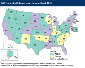 The WIC brand of infant formula varies by State