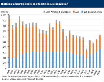Global food insecure population projected to increase