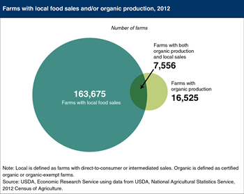Nearly half of all organic farms sell through local food markets