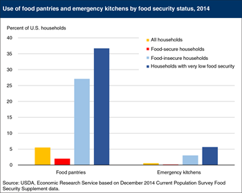 One in four food-insecure households visited food pantries in 2014