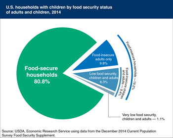One in five households with children were food insecure at some time in 2014