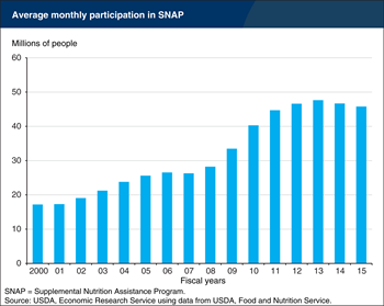 Participation in SNAP falls for the second consecutive year