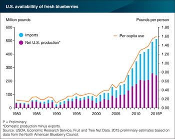 U.S. consumption of fresh blueberries is growing