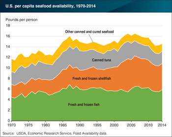 Fresh and frozen shellfish lead the growth in seafood availability