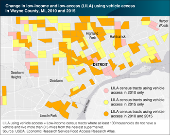 Updated ERS Atlas allows users to map low-income and low-supermarket access areas