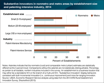 Some rural establishments are as likely to be innovative as their urban peers