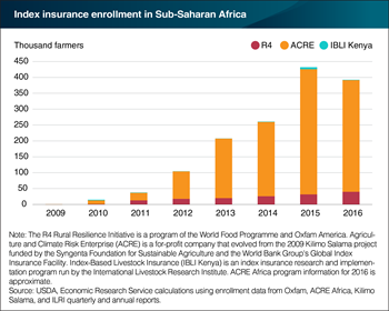 Index insurance programs have grown as a risk management tool in Sub-Saharan Africa