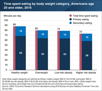 Healthy weight adults spend more time eating than do overweight and obese adults