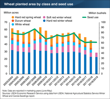 2018 winter wheat seedings are projected to be the lowest in 109 years