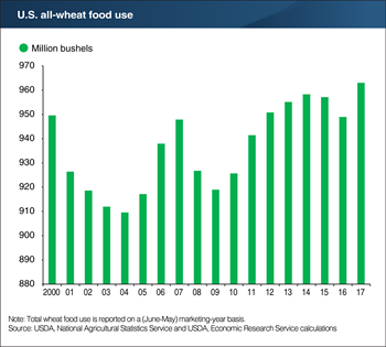 All-wheat food use is growing, lifts per capita utilization