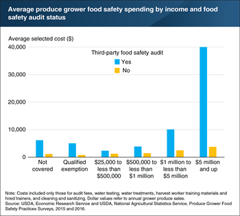 Produce growers who conducted third-party food safety audits spent 2 to 10 times more on food safety than those without audits