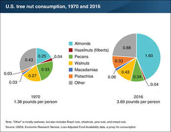 Almonds lead increase in tree nut consumption