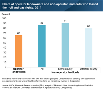Landlords who leased out agricultural land were also more likely to lease out oil and gas rights than operators who owned their land