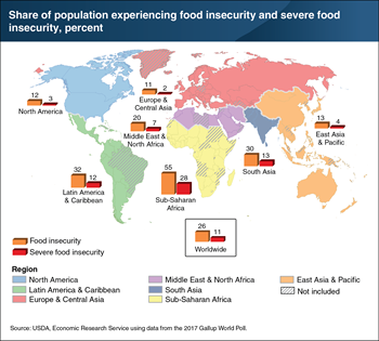 Food insecurity rates highest in Sub-Saharan Africa