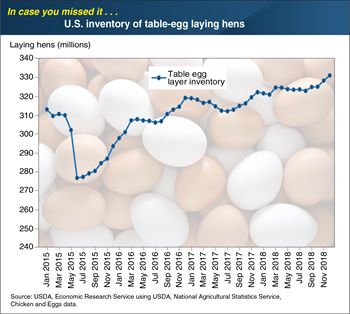ICYMI... U.S. inventory of table-egg laying hens grew to its highest levels ever in 2018