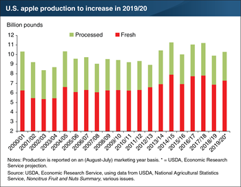 U.S. apple crop estimate up