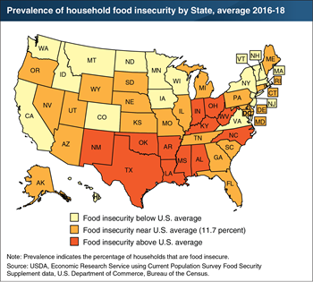 Food insecurity rates vary across States