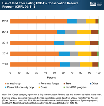 Most land exiting USDA's Conservation Reserve Program was used for annual crop production