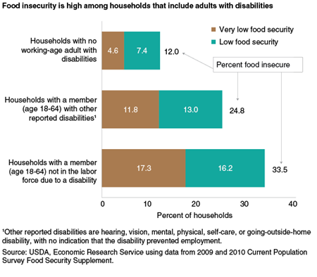 Food insecurity is high among households that include adults with disabilities