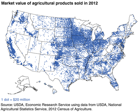 U.S. agricultural production occurs in each of the 50 States