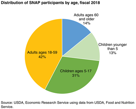 Children accounted for 43 percent of SNAP participants in 2017