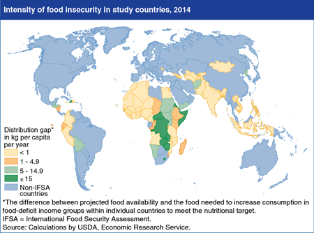 Despite gains, food insecurity remains concentrated in Sub-Saharan Africa