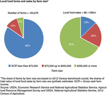 Local food farms and sales by farm size
