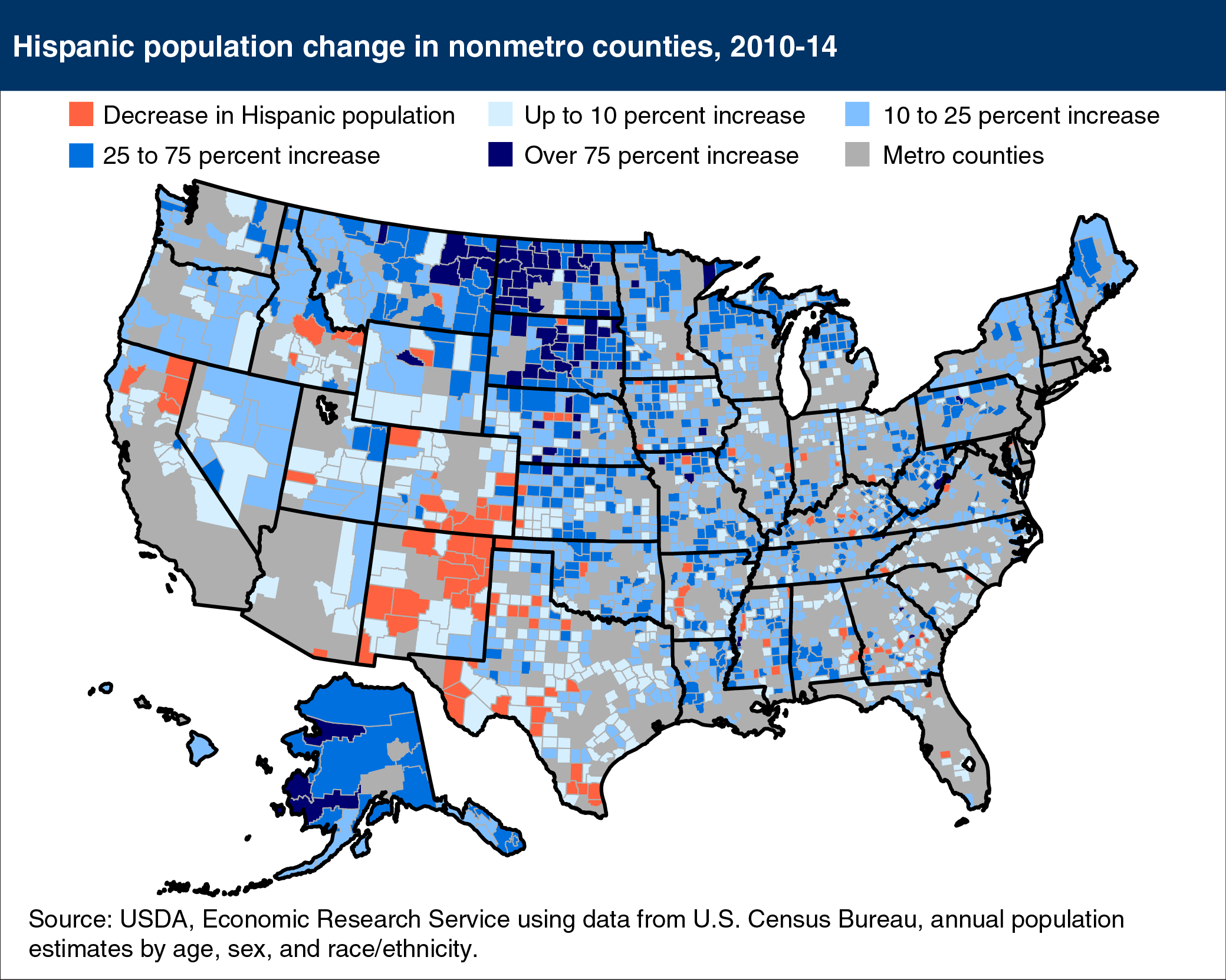 USDA ERS Chart Detail - Counties in us by population