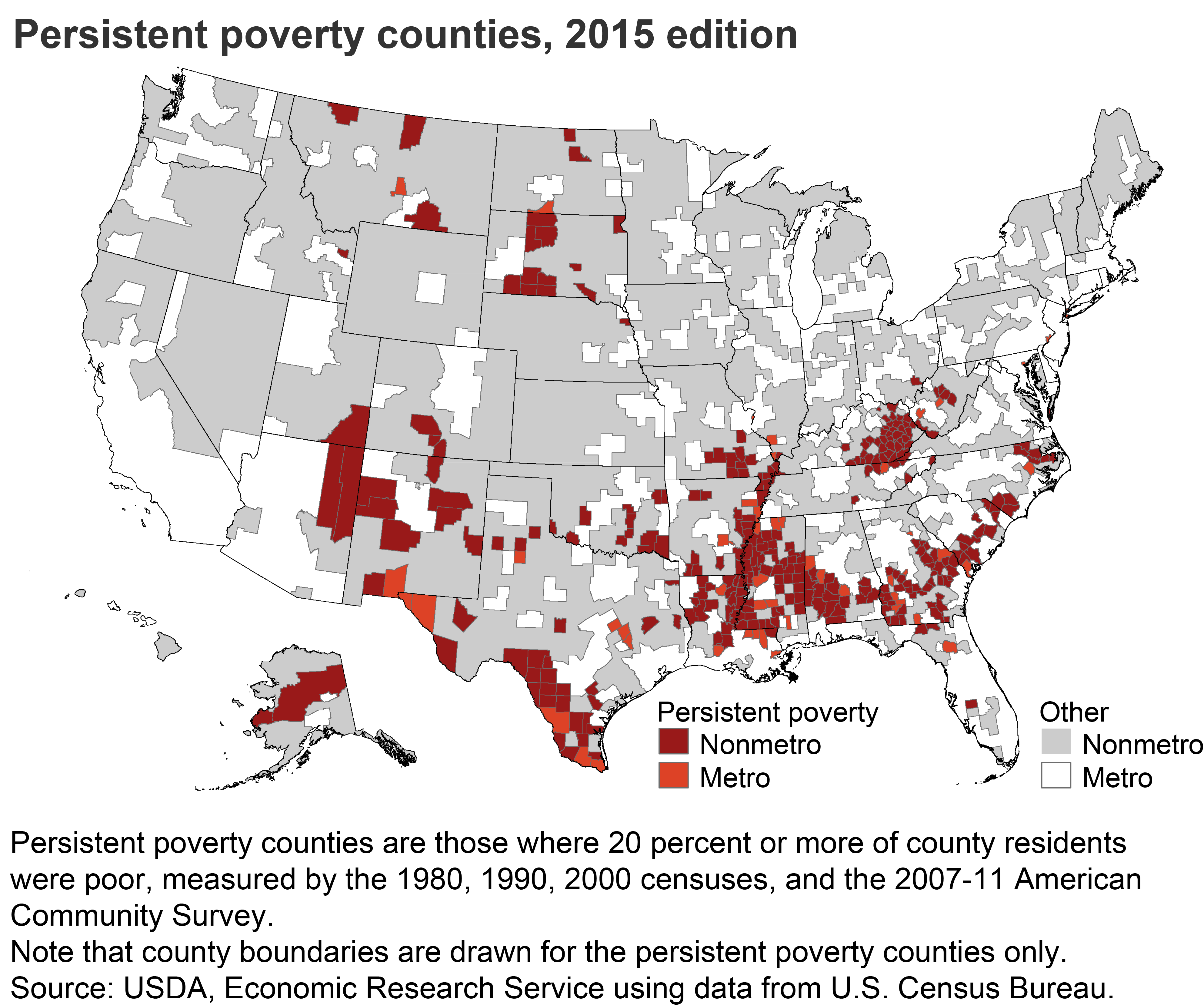 USDA ERS Descriptions And Maps - Us poverty map census bereau