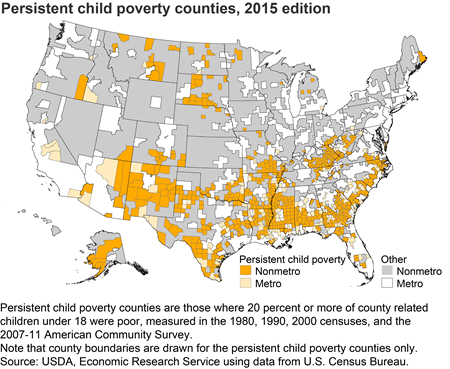 Persistent child poverty counties, 2015 edition