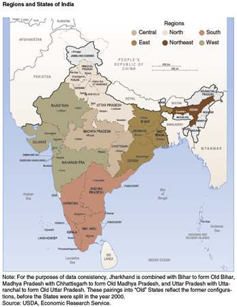 Regions and States of India