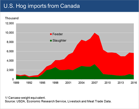 U.S. Hog imports from Canada