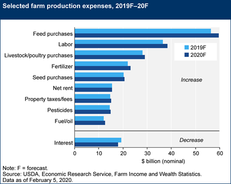 Selected farm production expenses, 2019F–20F