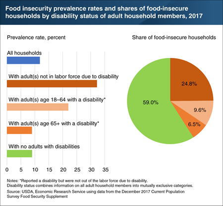 Disability status can influence the risk of experiencing food insecurity