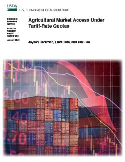 This is the cover image of the Agricultural Market Access Under Tariff-Rate Quotas report.