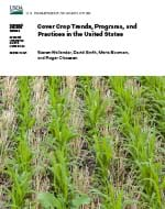 This is the cover image of the Cover Crop Trends, Programs, and Practices in United States report.