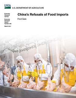 This is the cover image of the China's Refusals of Food Imports report.